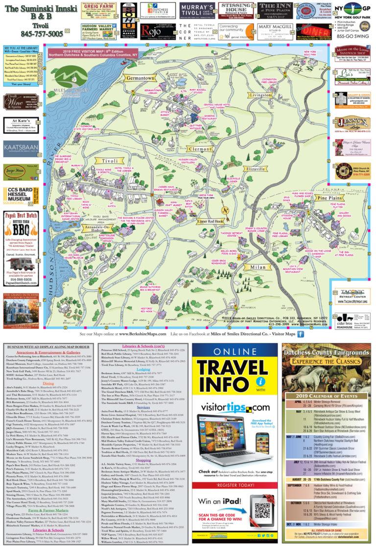 Berkshire Maps - Tivoli, Clermont, Elizaville, Annandale-On-Hudson on