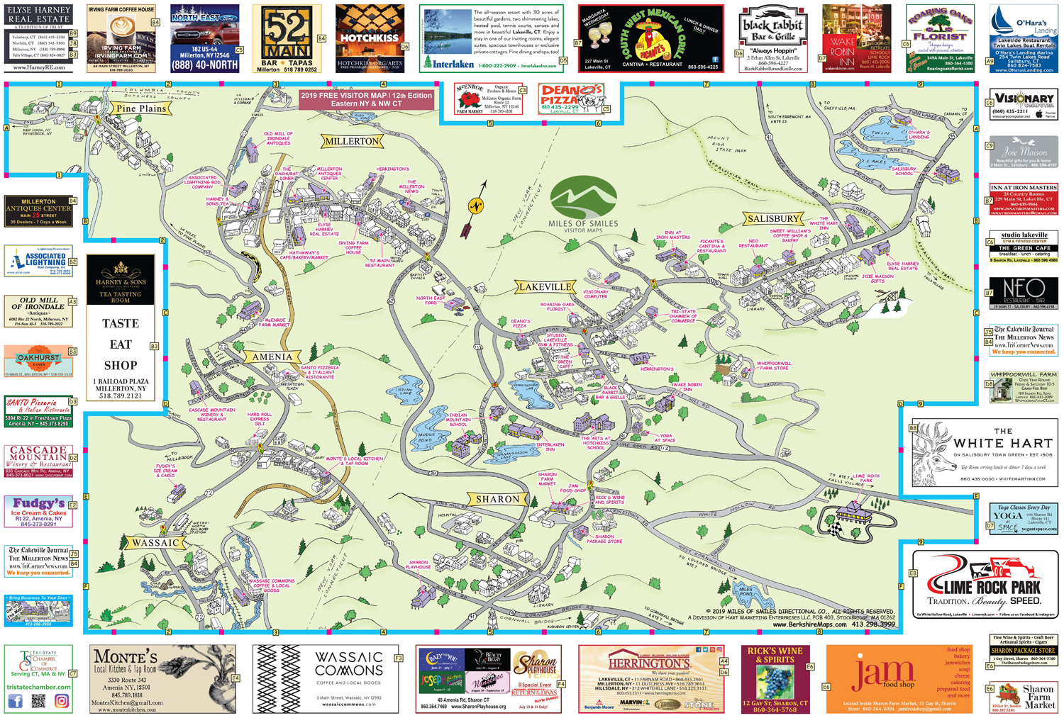Berkshire Maps - Millerton, Salisbury & towns nearby